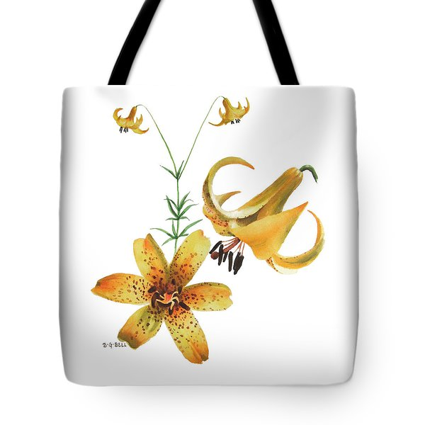 Canada Lily Composition Tote Bag