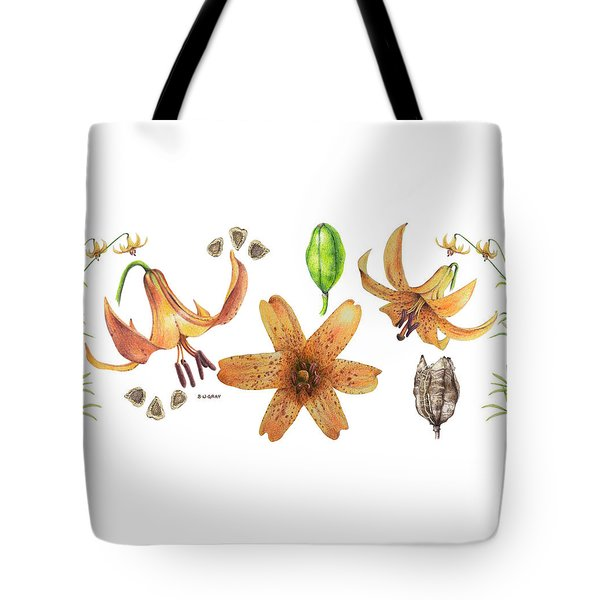 Canada Lily Collage Tote Bag
