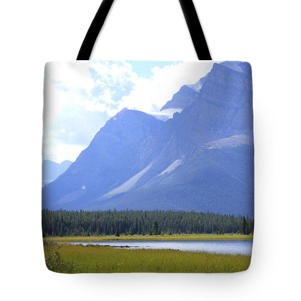 Canadian Mountains Tote Bag