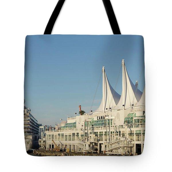 Canada Place Cruise Ship  Tote Bag
