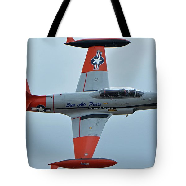 Canadair Ct-133 Silver Star Nx377jp Pacemaker Chino California April 30 2016 Tote Bag by Brian Lockett