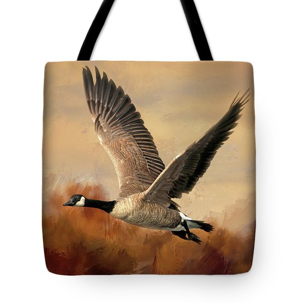 Canadian Air Tote Bag by Donna Kennedy