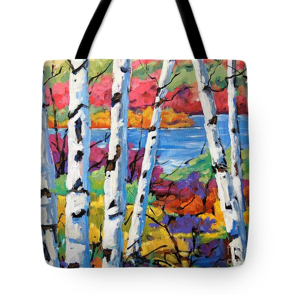 Canadian Birches By Prankearts Tote Bag by Richard T Pranke