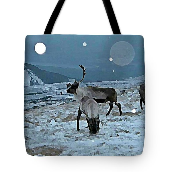 Canadian Elk By Moonlight Tote Bag