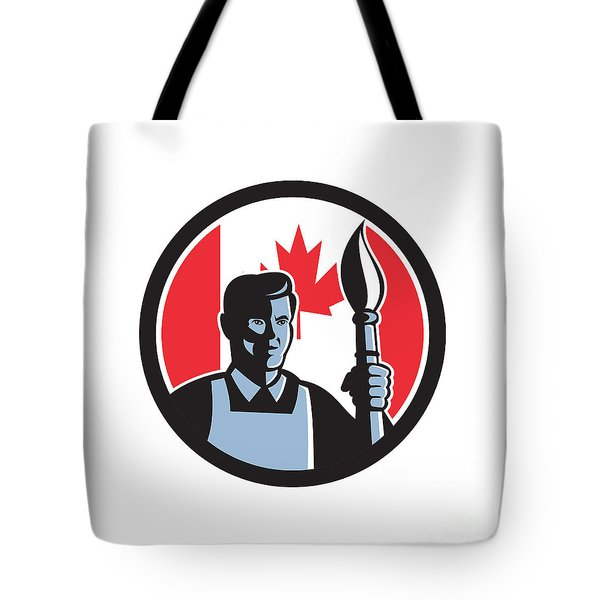 Canadian Fine Artist Canada Flag Icon Tote Bag