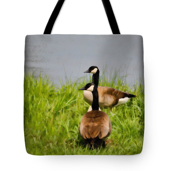 Canadian Geese At Loch Mary - Earlington Kentucky - 2a Tote Bag by Greg Jackson