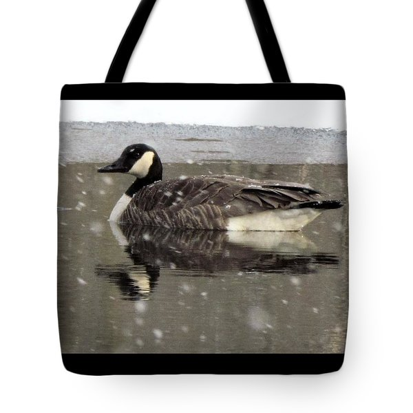Canadian Goose In Michigan Tote Bag