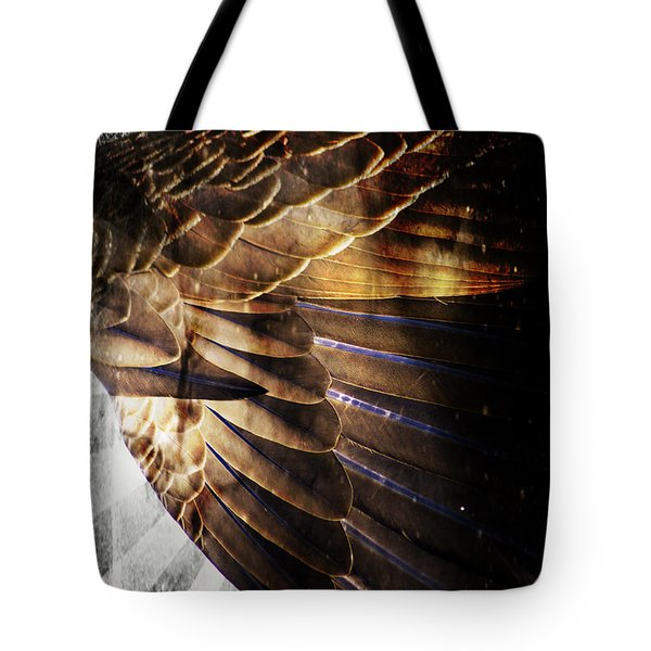 Canadian Goose Wing  Tote Bag by Ayasha Loya