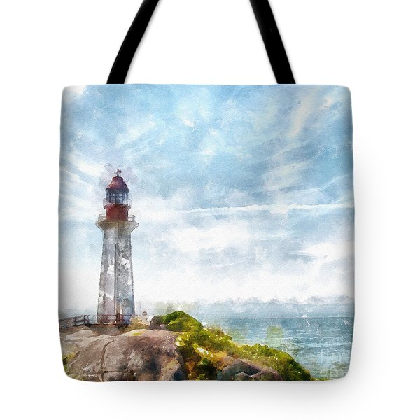 Canadian Lighthouse Tote Bag by Shirley Stalter
