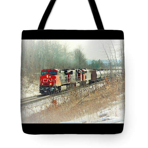 Canadian National Railway Vignette Tote Bag