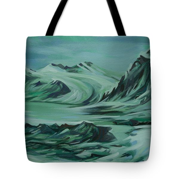 Tote Bag featuring the painting Canadian North by Anna  Duyunova