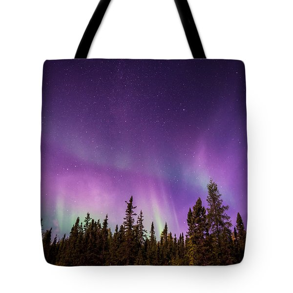 Tote Bag featuring the photograph Canadian Northern Lights by Serge Skiba