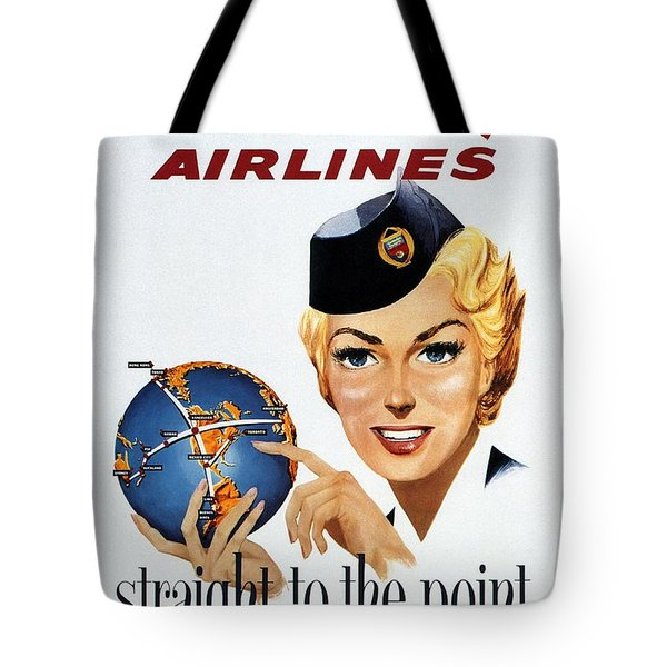 Canadian Pacific Airlines - Straight To The Point - Retro Travel Poster - Vintage Poster Tote Bag
