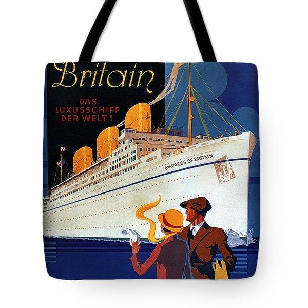 Canadian Pacific - Hamburg-berlin - Empress Of Britain - Retro Travel Poster - Vintage Poster Tote Bag