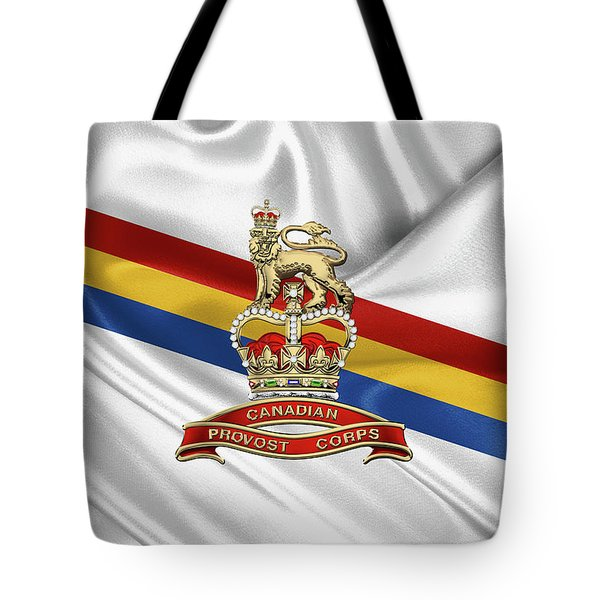 Canadian Provost Corps - C Pro C Badge Over Unit Colours Tote Bag by Serge Averbukh