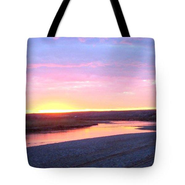 Canadian River Sunset Tote Bag