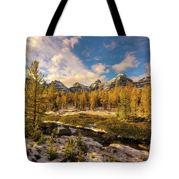 Canadian Rockies Golden Larches In Larch Valley Tote Bag
