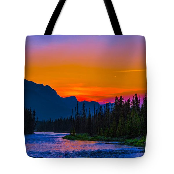 Canadian Rocky Sunset Tote Bag