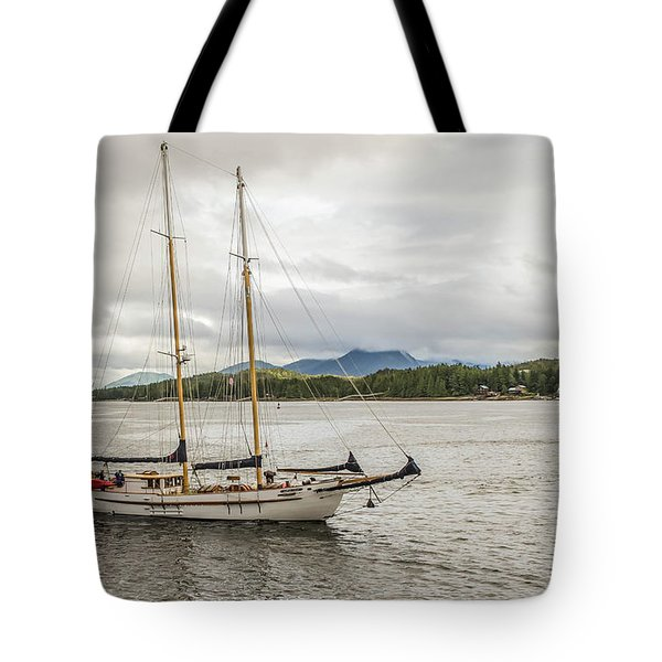 Canadian Sailing Schooner Tote Bag