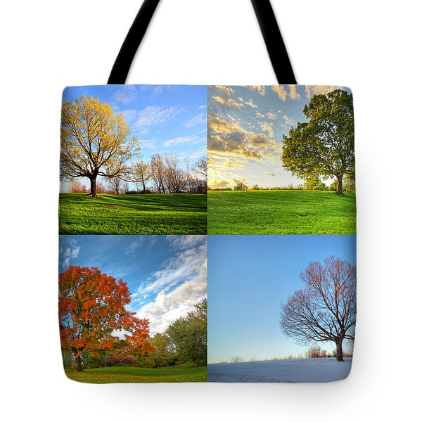 Canadian Seasons Tote Bag by Mircea Costina Photography
