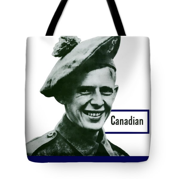 Canadian This Man Is Your Friend Tote Bag