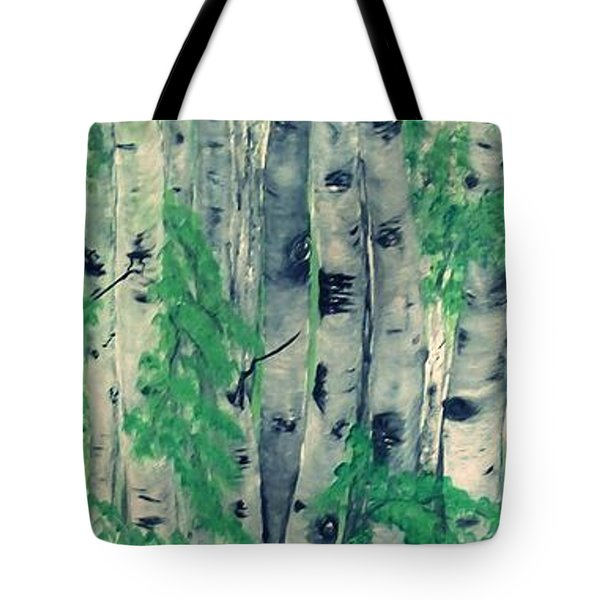 Tote Bag featuring the painting Canadian White  Poplar by Sharon Duguay