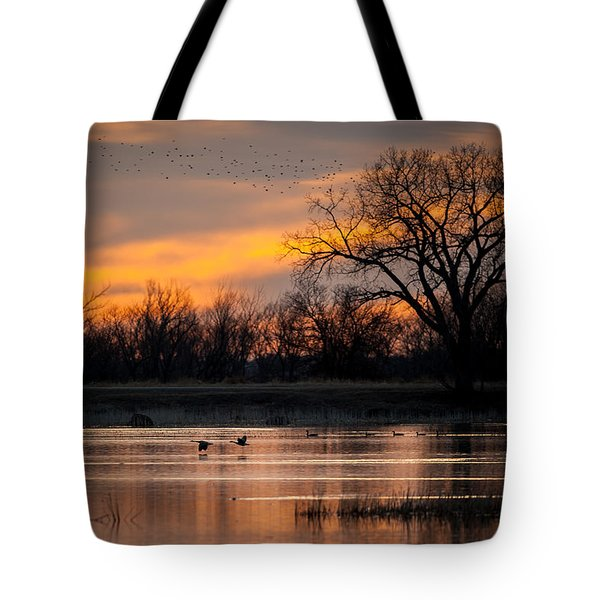Tote Bag featuring the photograph Canadians Under The Radar by Jeff Phillippi