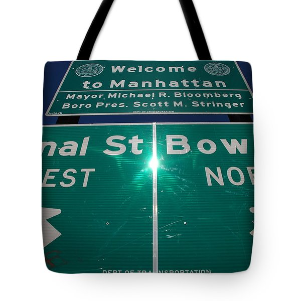 Canal And Bowery Tote Bag by Rob Hans