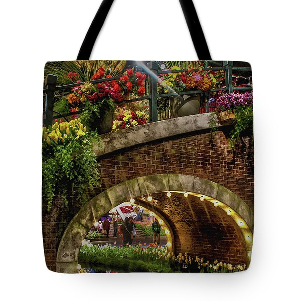 Canal And Bridge  Tote Bag by Sandy Moulder