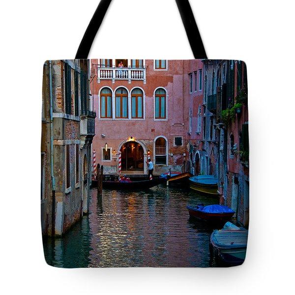 Canal At Dusk Tote Bag