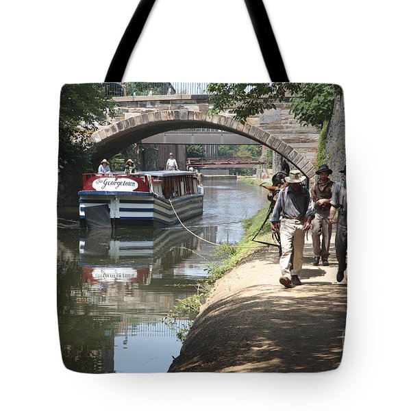Canal Boat And Mule Team On The C And O Canal In Georgetown In Washington Dc Tote Bag