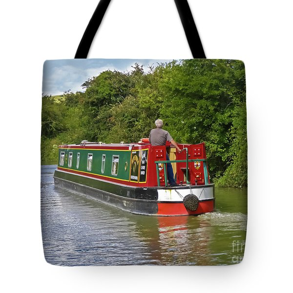 Canal Boat Tote Bag by Terri Waters