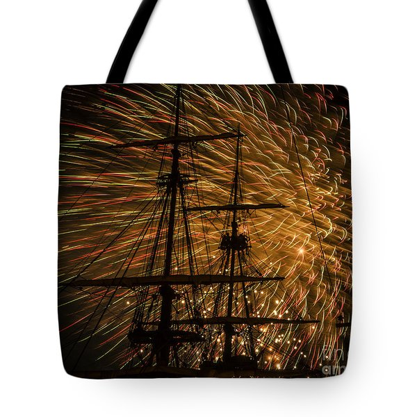 Tote Bag featuring the photograph Canal Day Fireworks Finale by JT Lewis
