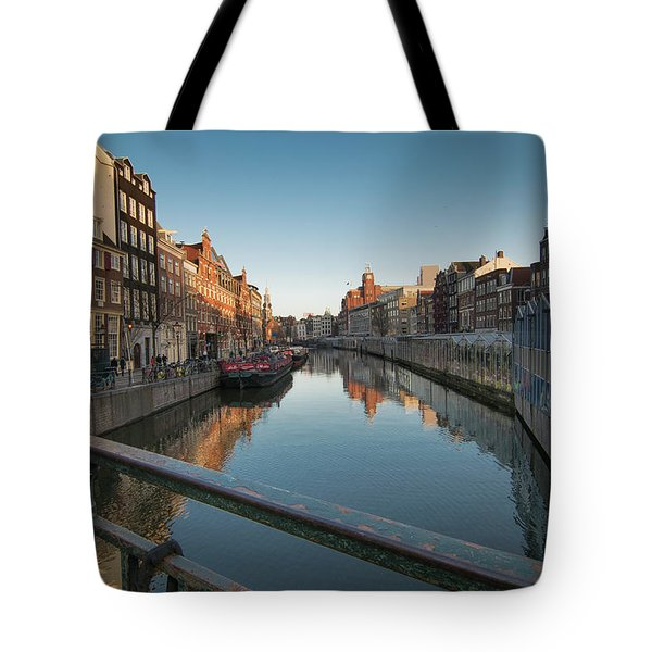 Canal From The Bridge Tote Bag