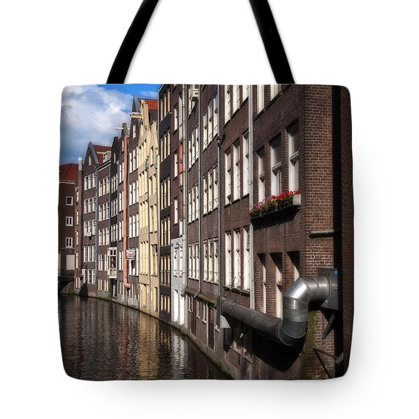 Canal Houses Tote Bag by Joan Carroll