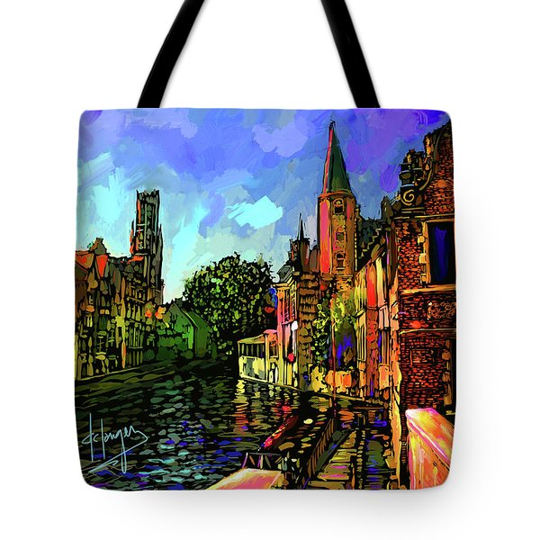 Canal In Bruges Tote Bag