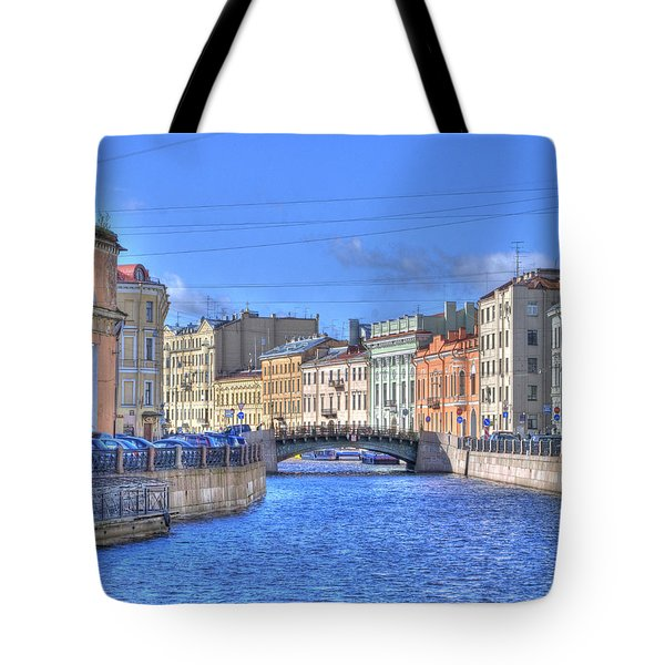 Canal In St. Petersburgh Russia Tote Bag