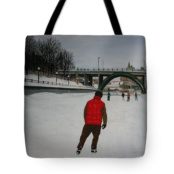 Canal Skate Tote Bag