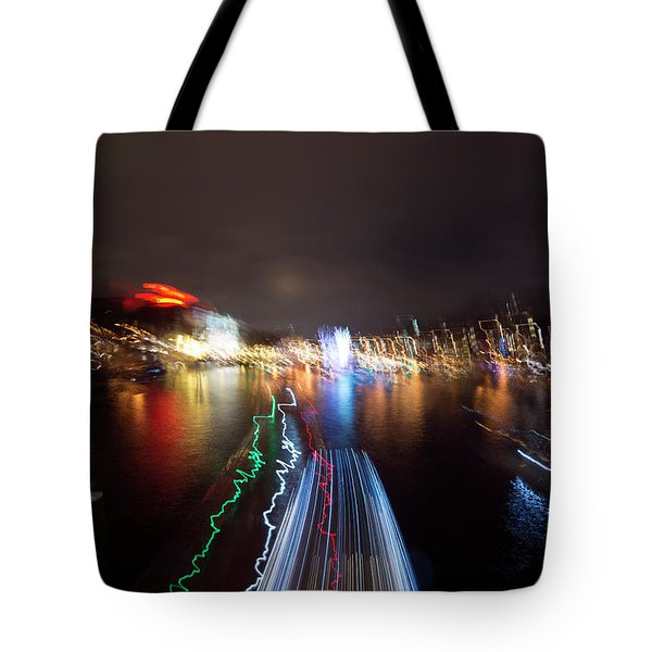 Canal Streaking Abstract Tote Bag