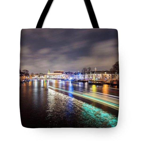 Canal Streaking Iv Tote Bag