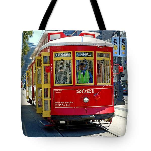 Canal Street Cable Car Tote Bag