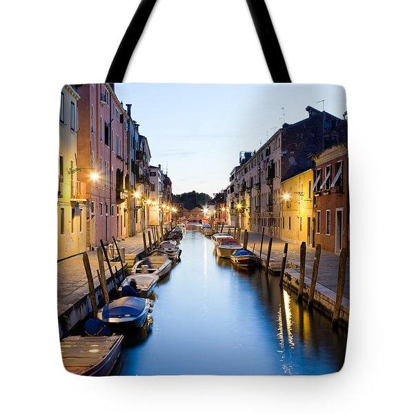 Canale Blu Tote Bag