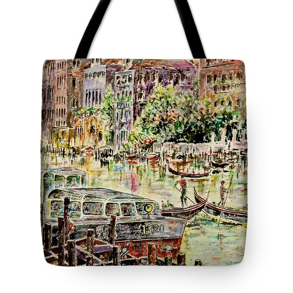 Tote Bag featuring the painting Canale Grande by Alfred Motzer