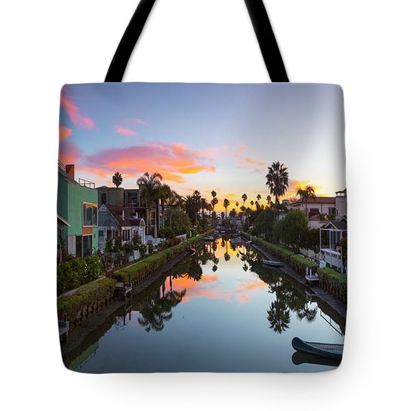 Canals Of Venice Beach Tote Bag