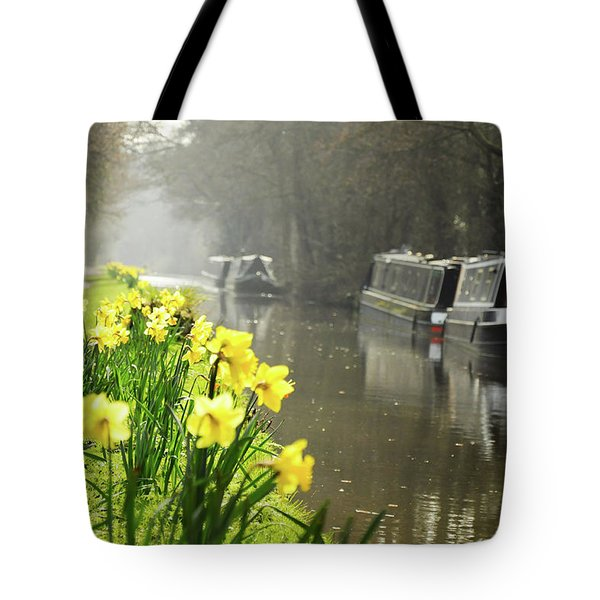 Canalside Daffodils Tote Bag
