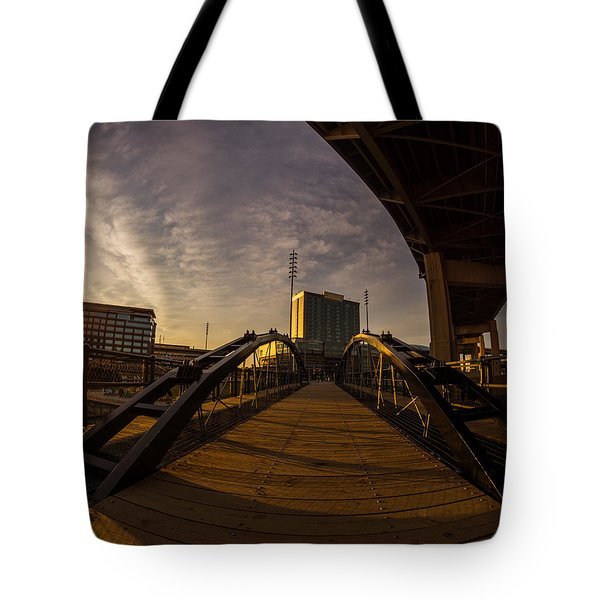 Canalside Dawn No 5 Tote Bag by Chris Bordeleau