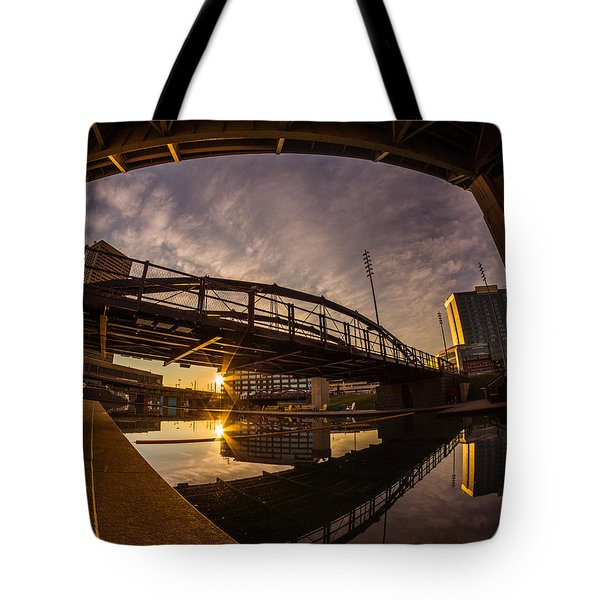 Canalside Dawn No 6 Tote Bag by Chris Bordeleau