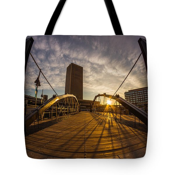 Canalside Dawn No 7 Tote Bag by Chris Bordeleau