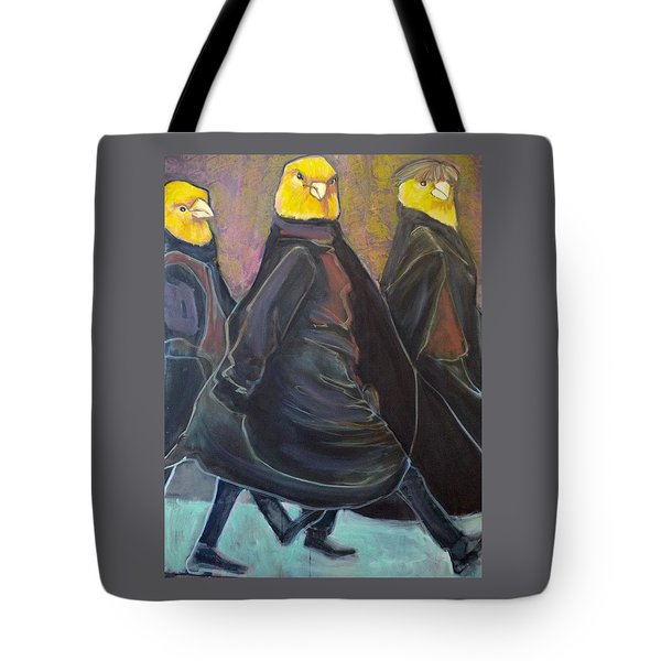 Canaries On Parade Tote Bag