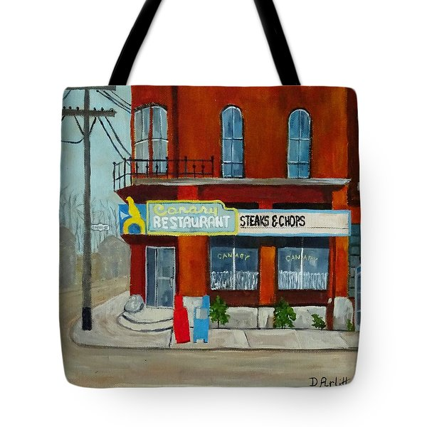 Canary Restaurant Tote Bag